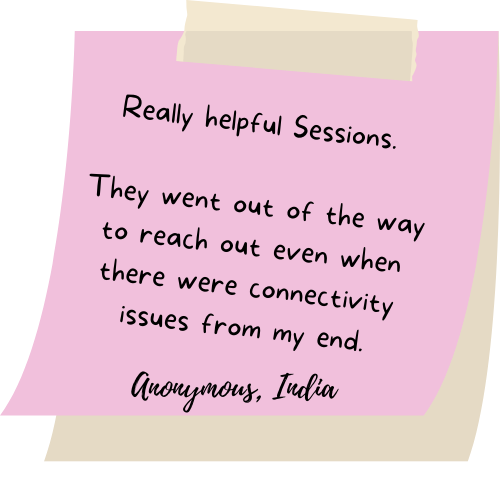 Really helpful Sessions. They went out of the way to reach out even when there were connectivity issues from my end.