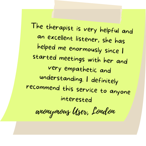 The therapist is very helpful and an excellent listener, she has helped me enormously since I started meetings with her and very empathetic and understanding. I definitely recommend this service to anyone interested